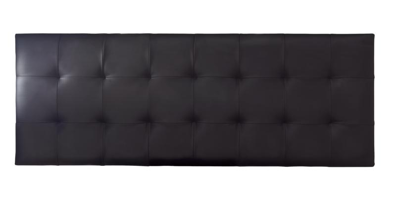 SERENE Romana Black Faux Leather Headboard